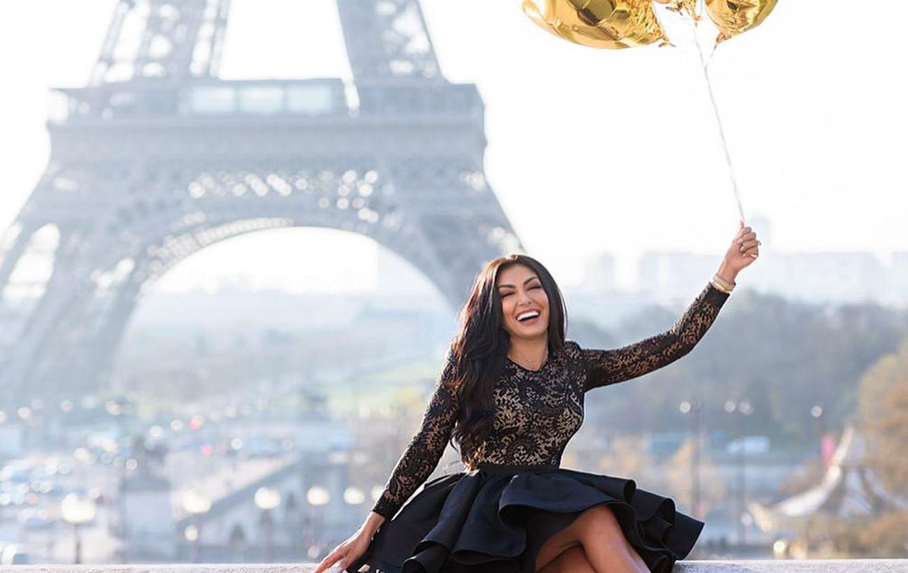 HODA MODE - Hoda Hajirnia in Paris France - Eiffel Tower - travel