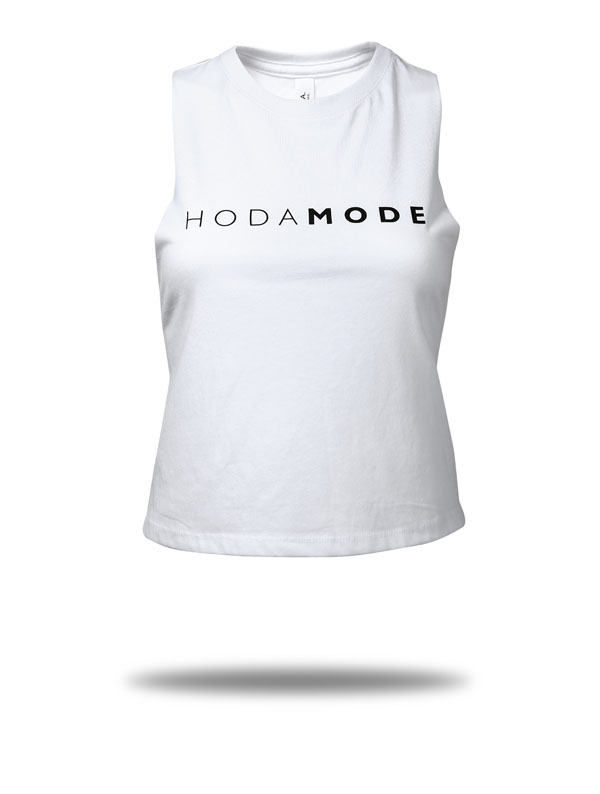 Shop HODAMODE Crop Top white