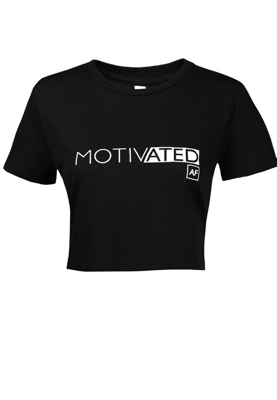 Shop HODAMODE Women's Motivated AF Crop Tee